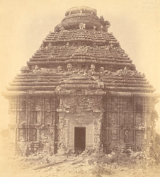 General view from the east of the mandapa of the Surya Temple or Black Pagoda, Konarka